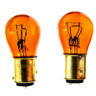 Camco Automobile Park/Tail/Signal Replacement Bulb - Pack of 2 Amber  2057NA