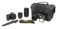 Nikon D3500 DSLR 24.2 Megapixel Camera With 18-55mm 70-300mm Lens Tripod