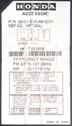 2006-2008 Honda Civic AM FM XM MP3 Radio CD Player - 39101-SNA-A610-M1 Face 2AH0