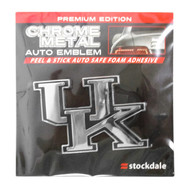 Stockdale Official NCAA Kentucky Wildcats Chrome Adhesive Auto Emblem 28390