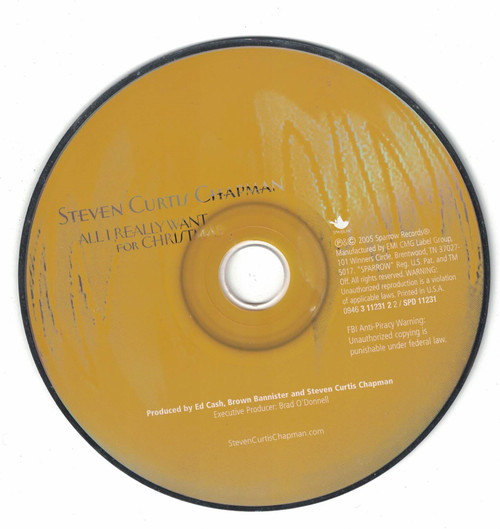 Steven Curtis Chapman All I Want For Xmas 2005 CD