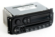 Dodge Jeep Chrysler 02-07 Radio AMFM CD Player w Aux Input - RBK Slider Version