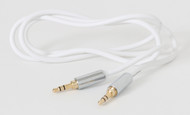 6ft Mobile 3.5mm Stereo Audio Cable - Gold Plated - Male to Male White Aux Cord