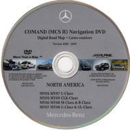 2005-2008 Mercedes-Benz Navigation DVD Map of North America - A1698276059