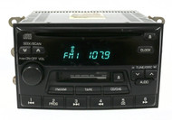 2000 Nissan Altima Radio AM FM Cassette CD 281880Z800 ID PN-22731-D
