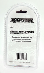 Raptor GL15 Ground Loop Isolator w Gold RCA - Metra Premium Mobile Audio