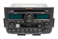 2003-2004 Acura MDX AM-FM 6CD Cassette Face Code 1XF1 Part Number 39100-S3V-A500