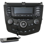04-07 Honda Accord AMFM 6 CD Radio w Aux 39175-SDA-L110-M2 7BK1 Code Included