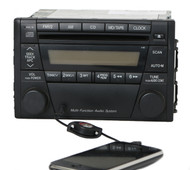 2001-2002 Mazda 626 Radio AM FM CD w Auxiliary Input GJ4H669R0 Face Number 4160