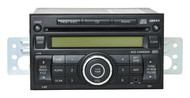 07-09 Nissan Versa Radio AM FM mp3 6 Disc CD w Aux Input 28185 EM33B Face CY05E