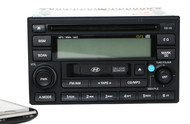 2005-06 Hyundai Tuscon AM FM Radio mp3 CD Cassette Player Bluetooth 96180-2E101