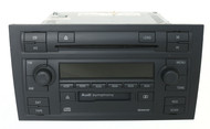 2004-08 Audi A4 AM FM Radio CD Cassette Player w Satellite Control - 8E0035195H