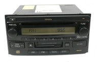 03-05 Toyota 4Runner AMFM Radio CD Cassette 86120-35281 Face 16852 w CS Mech