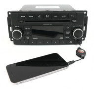 08-09 Chrysler Aspen Dodge Jeep AM FM Radio CD Player Sat w Aux P68021161AC RES