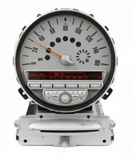 07-09 Mini Cooper Boost AM FM OEM Radio CD Player w Speedometer 65.12-3455539-01