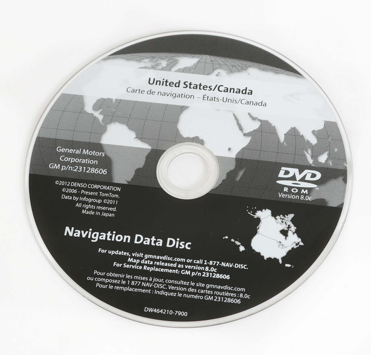 2007-11 Chevy GMC Truck Van Navigation Data CD Part Number 23128606 ...