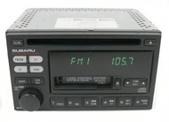 2000-02 Subaru Legacy AM FM Radio CD Cassette Player 86201AE12A Face P121