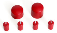 CHERRY RED Colored Radio Knobs Kit CD / CS Set for GMC & Chevy Car and Truck