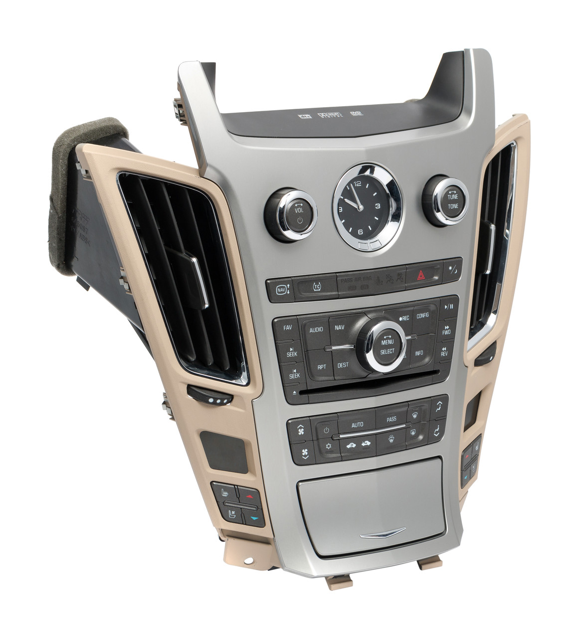 2008 2009 cadillac cts radio and temperature control panel. Black Bedroom Furniture Sets. Home Design Ideas