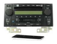 03-05 Toyota 4 Runner AM FM Radio 6 CD Cassette Bluetooth 86120-35201 Face 56836