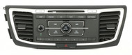 2013 - 15 Honda Accord Radio w Auxiliary & Control Panel w Vents  39100-T2A-A120