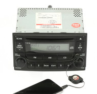 05-06 Kia Spectra Radio AM FM Single CD Player Upgraded w Aux Input 96150-2F100