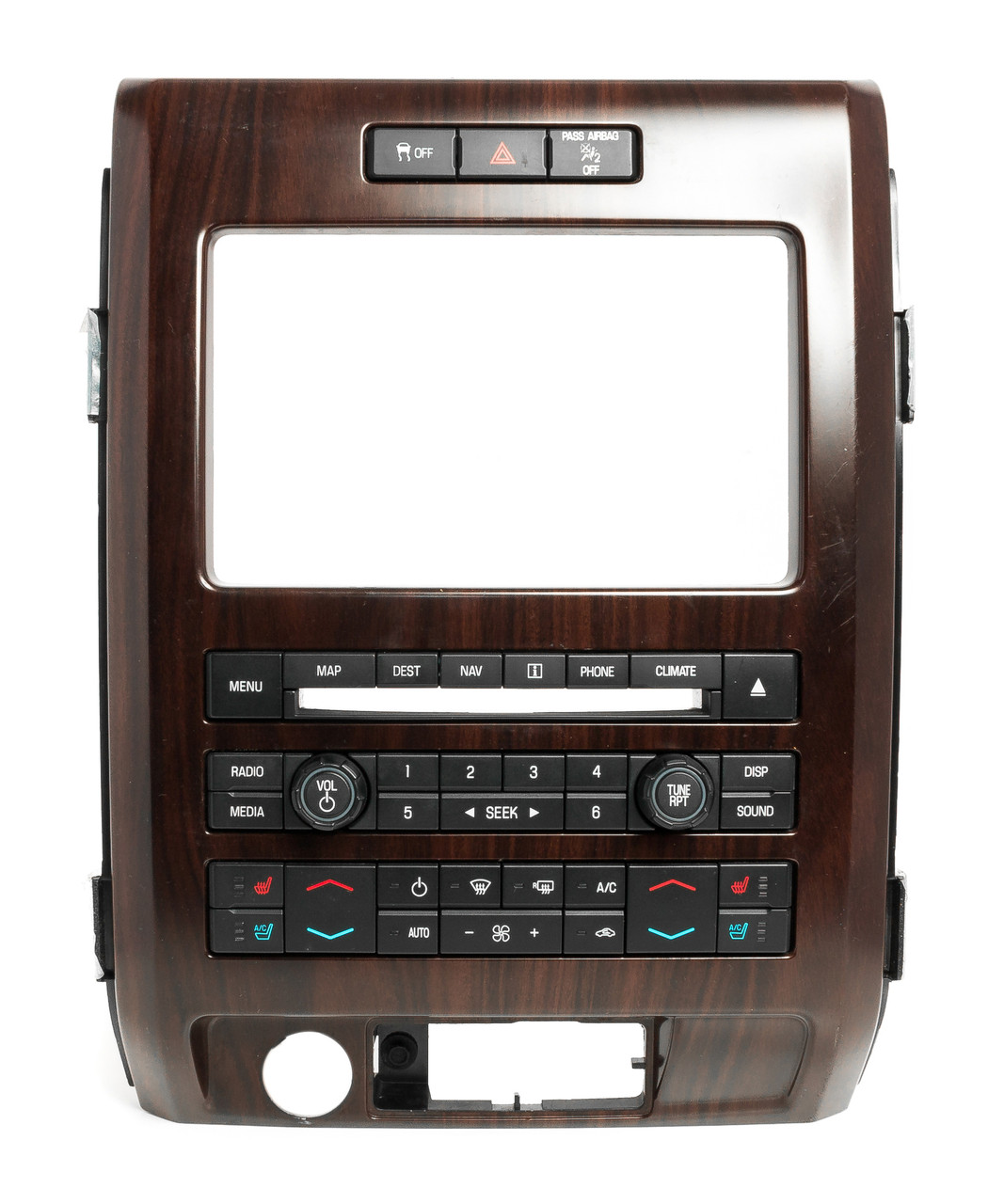 Ford F-150 2011-2012 Control Panel W Heated & Cooled Seats