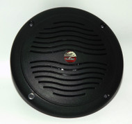 "5"" Black Dual Cone Waterproof Marine Speaker - Round Integral Grill Spa RV Boat"