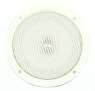 """5"""" Dual Cone Slimline Home Theater & RV Speaker - White Thin Wall Ceiling Mount"""