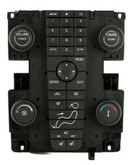 04-07 Volvo 30 40 50 Series Audio Control Module with Climate Controls 30737667