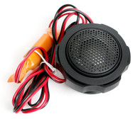 "1"" Black Marine Waterproof Swivel Tweeter - Easy Flush Mount - Boat RV Hot Tub"