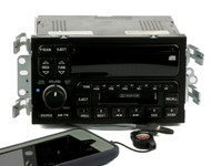 00-01 Buick LeSabre AM FM Radio Cassette CD w BT & Aux on Pigtail UPO 09389324