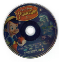 Pinocchio Disney Disc One Only DVD Professionally Cleaned