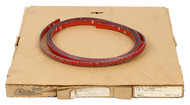 "1991-1994 Pontiac Sunbird Single OEM 103""x.5"" Red Bumper Impact Strip 22569929"