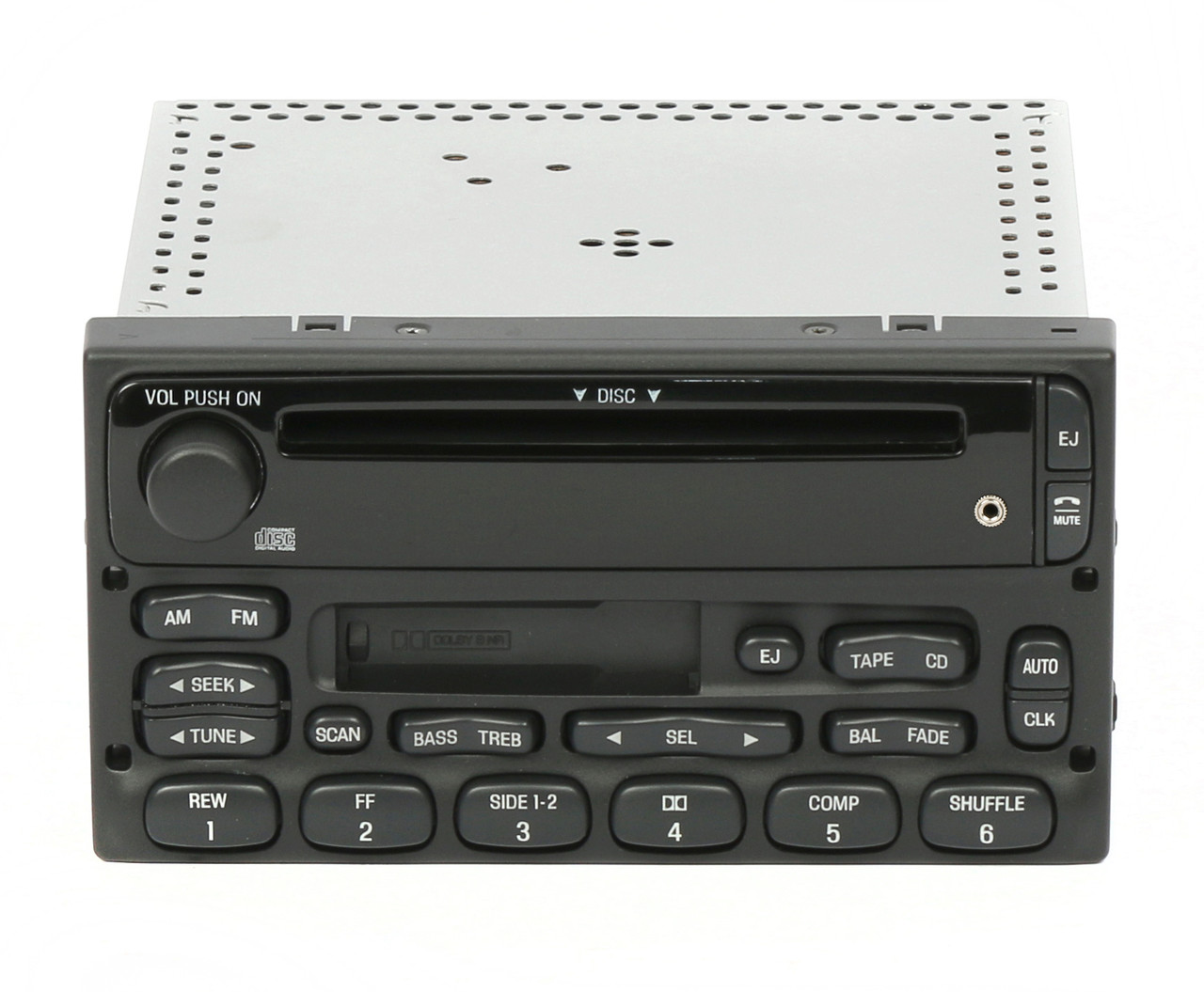 1 Factory Radio AM FM CD Cassette Player w Auxiliary Input Compatible With 1998-2010 Ford Trucks YU3F-18C868-AA