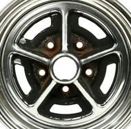 1978-1987 Buick Regal 14x6 5 lug Steel Chrome Single Wheel Rim   25504291