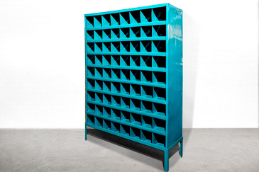 SOLD - Industrial Storage Wine Rack, Refinished