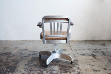Aluminum Armed Steno Chair, Refinished,1950s, SPECIAL ORDER