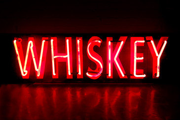 "SOLD - Vintage Neon ""Whiskey"" sign"
