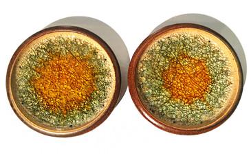 SOLD - Set of Two Robert Maxwell Glazed Stoneware Plates, circa 1965