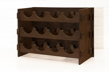 Arts & Crafts Style Wood Wine Rack, circa 1975, Free Shipping