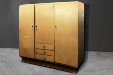 SOLD - Large Dutch Art Deco Armoire C. 1930s