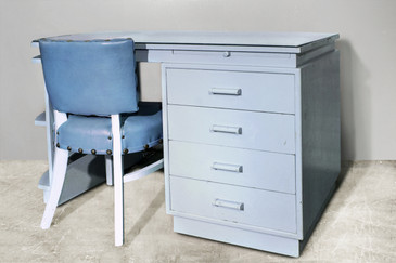 SOLD - Dunbar Art Deco Desk from the Estate of Bing Crsoby