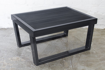 SOLD - Industrial Black Steel Side Table, Rehab Vintage Interiors Original