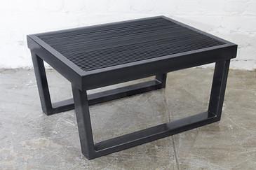 Industrial Black Steel Side Table, Rehab Vintage Interiors Original