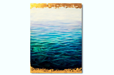 SOLD - Abstract Seascape Painting