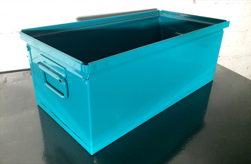 SOLD - 1940s Industrial Storage Bin, Refinished in Teal