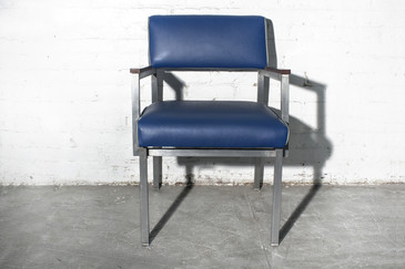 SOLD - 1960s Cole Steel Armchair, Refinished