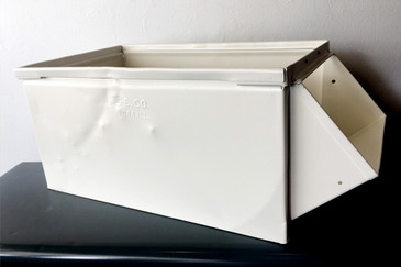 1940s Industrial Storage Bin, Refinished in White, Free Shipping