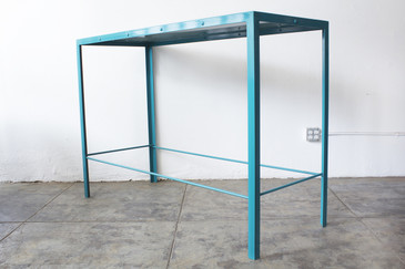 SOLD - Large Steel Console Table, Rehab Vintage Original